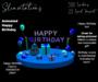Slinvitations Animated Blue Happy Birthday Card