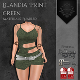 **Mistique** Blandia Print Green (wear me and click to unpack)