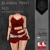**Mistique** Blandia Print Red (wear me and click to unpack)