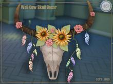 #187# Wall Cow Skull Decor