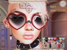 #187# Heart Chains Glasses