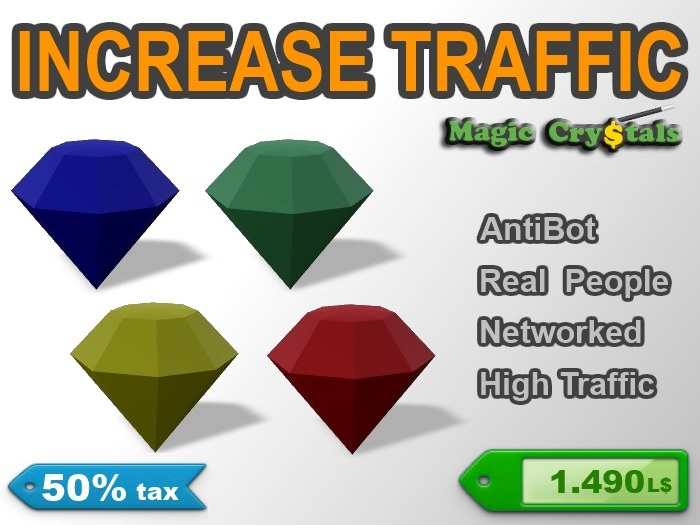 Magic Crystal Pack - Increase Traffic! | 50% tax