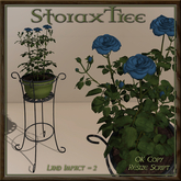 Iron Plant Stand Planter Roses C7