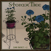 Iron Plant Stand Planter Roses C13