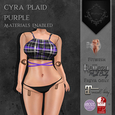 **Mistique** Cyra Top Plaid Purpl (wear me and click to unpack)