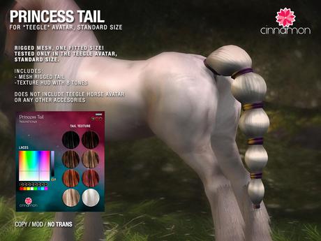 *CINNAMON* Teegle Av ST -Princess Tail -BOX (add me)