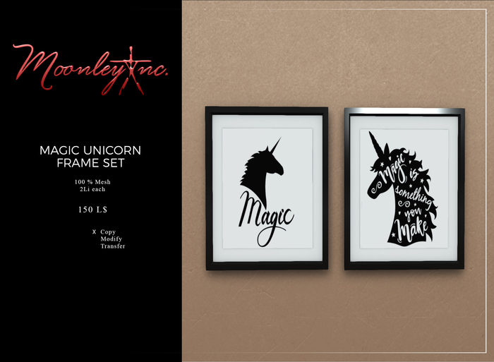 Moonley Inc. - Unicorn Magic Frame Set