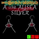"""""""A"""" of silver earrings - Alisea"""