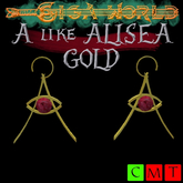 """A"" of gold earrings - Alisea"