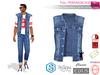 Full Perm Men's Sleeveless Denim Jacket Vest Belleza Jake Slink Male Signature Gianni Ocacin Gamit