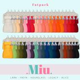 Miu - Ruby dresses FATPACK