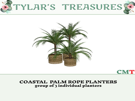 .:TT:.  COASTAL  PALM ROPE PLANTERS  add me!
