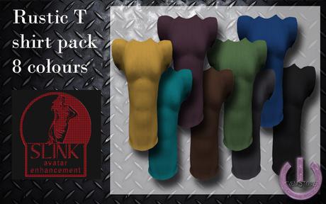 Real men T shirts Rustic-Fat pack (Slink)