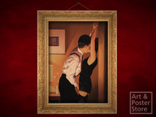GAME ON Jack Vettriano EROTIC PAINTING | Ornate Gold Mesh Frame