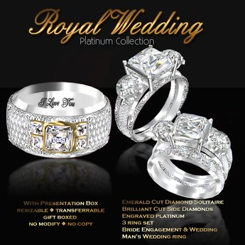 Second Life Marketplace Exquisite Royal Wedding Platinum Collection