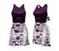 *** Harmonia Bordeaux Bloom Mikaela Mid Length Dress - Maitreya