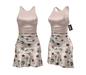 *** Harmonia Creme Vintage Mikaela Mid Length Dress - Maitreya