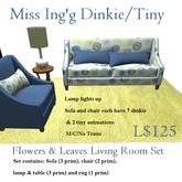 Miss Ing's DT FLowers & Leaves Living Room Set