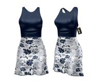 *** Harmonia Navy Bloom Mikaela Mid Length Dress - Maitreya