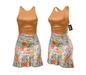 *** Harmonia Orange Bloom Mikaela Mid Length Dress - Maitreya