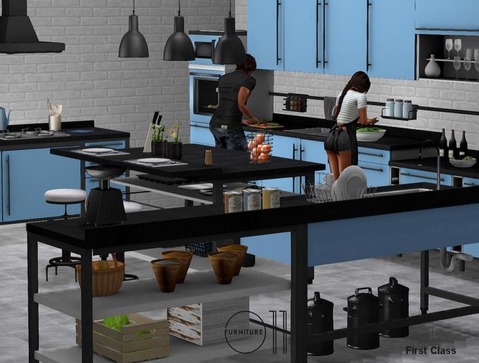Kitchen Vista - PG - 175 animations, 175 props
