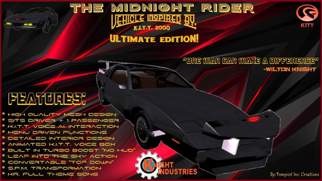 Vehicle Inspired by 1980's Midnight Rider