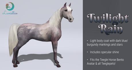 Lunistice: Twilight Rain - Teegle Body Coat & Hooves
