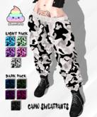 {CuteShit} Camo Sweatpants [LIGHT PACK]