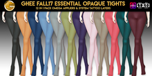 Ghee Fall17 Essential Opaque Tights 12in1 pack