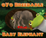 oYo Breedable Elephant Bundle: F Gray Elephant Brown Eyes MINI