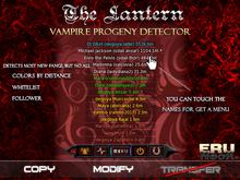 The lantern - Vampire progeny detector