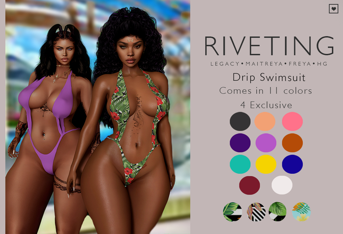 **RIVETING ~ Drip Swimsuit {Fatpack} {Add}