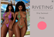 **Riveting ~ Drip Swimsuit {Pink} {Add}