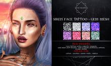 Oxydate. Siren Face Tattoo + Gem Mesh