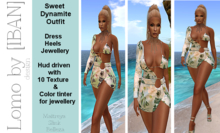 [ IBAN ] //193  Outfit Sweet Dynamite w/HUD FATPACK ALL COLORS LEGACY MAITREYA SLINK BELLEZA