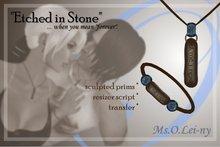 "Ms.O.Lei-ny™ ""Etched in Stone"" (Irish ""ta me i ngra"") male set"