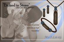 """Ms.O.Lei-ny™ """"Etched in Stone"""" (Irish """"ta me i ngra"""") female set"""