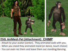 *NEW* Animated-Mesh Attachment-Pet CHIMP