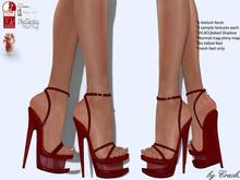 byCrash Full perm mesh-Stripper heels