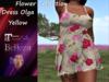 {RP} Dress Olga Flower Colllection Yellow