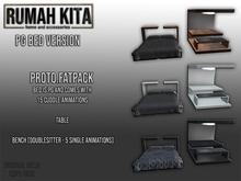 Rumah Kita - Proto Fatpack PG Bed, Table, Bench
