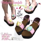 [ FULL PERM ] Platform Sandals with Bunny