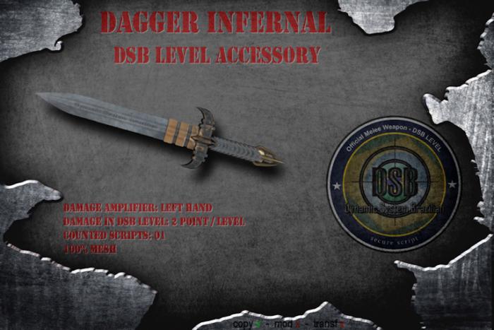 DSB LEVEL  DAGGER INFERNAL - ACCESSORY  v1.1 BOX