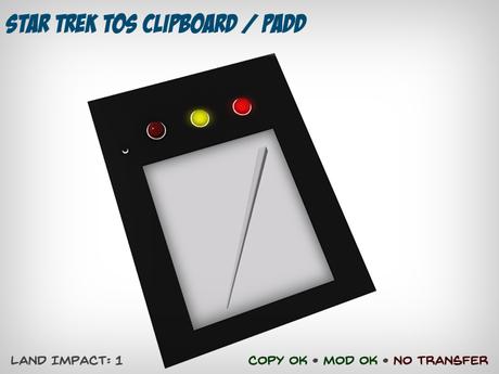 Star Trek TOS Clipboard / PADD