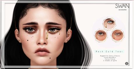 Swan Mesh Gold Tear_Lutka