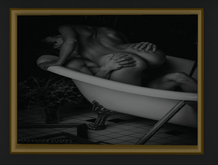 Erotiic Art - in the bathtub - Picture with Frame