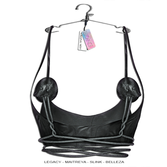 "Elegance Boutique - Top  w/HUD  - Black - "" Texas"" - Legacy / Maitreya /Slink / Belleza"