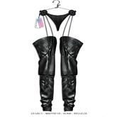 "Elegance Boutique - Pants w/HUD  - Black - "" Texas"" - Legacy / Maitreya /Slink / Belleza"