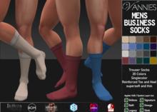 [VANNIES] Mens Business Socks Megapack (Applier HUD + BoM) (Belleza, Legacy, Signature, Slink and Omega)