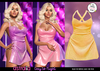 Astralia - Day to Night Dress (Yellow Glitter)